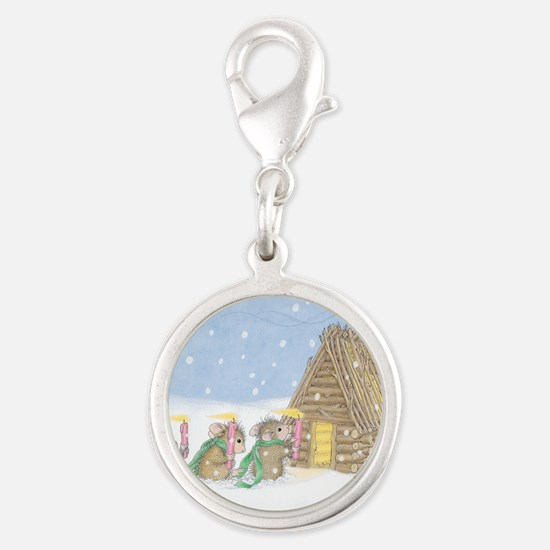 Candlelit Voyage Silver Round Charm