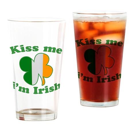Kiss Me Im Irish Flag St Patricks Day Drinking Gla