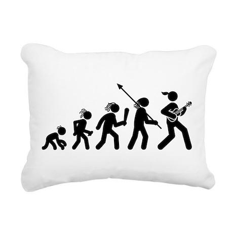Ukulele Player Rectangular Canvas Pillow