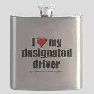 """Love My Designated Driver"" Flask"