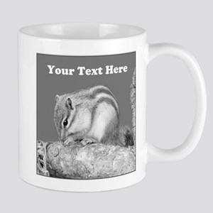 Chipmunk. Custom Text. Mug
