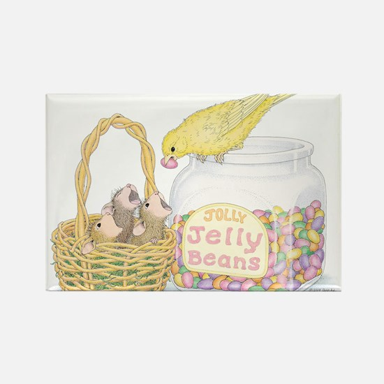 Jolly Jelly Beans Rectangle Magnet