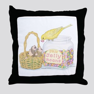 Jolly Jelly Beans Throw Pillow