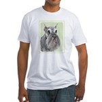 Schnauzer Fitted T-Shirt