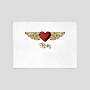 Ruby the Angel 5'x7'Area Rug