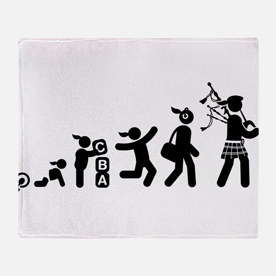 Bagpiper Throw Blanket