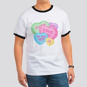 Fun Candy Hearts Personalized Ringer T