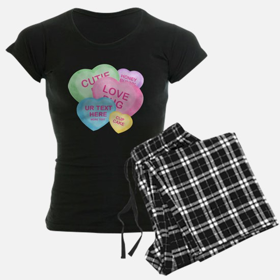 Fun Candy Hearts Personalized Pajamas