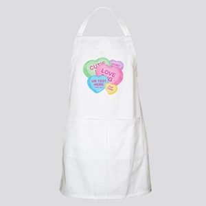 Fun Candy Hearts Personalized Apron