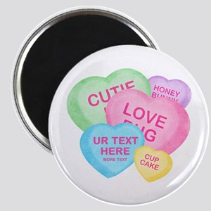 "Fun Candy Hearts Personalized 2.25"" Magnet (10 pac"