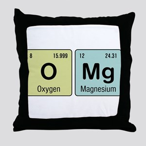 OMG - Chemistry Throw Pillow