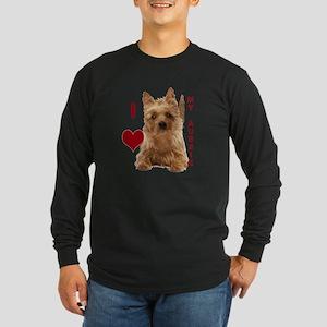 aussie terrier Long Sleeve Dark T-Shirt
