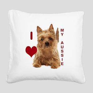 aussie terrier Square Canvas Pillow