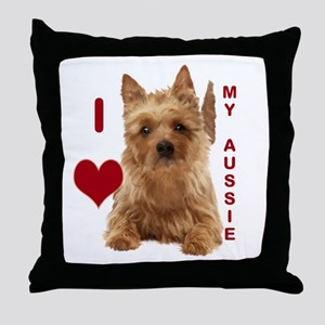 aussie terrier Throw Pillow