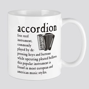 Piano Accordion Definition Mug