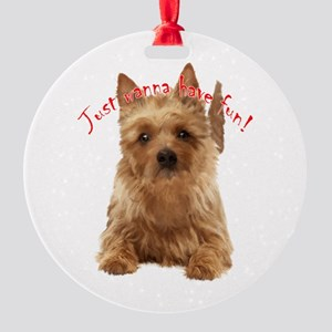 aussie terrier Round Ornament