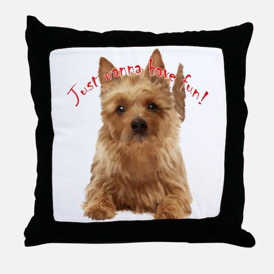 aussie terrier Throw Pillow