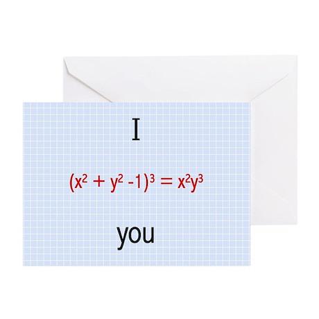 Math Love Formula Greeting Cards (Pk of 10)