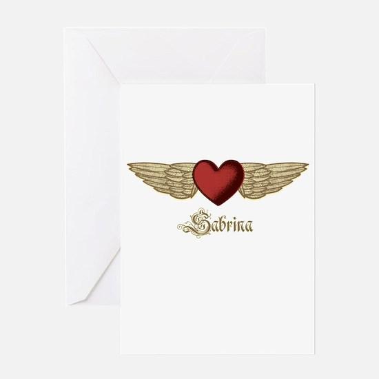Sabrina the Angel Greeting Card