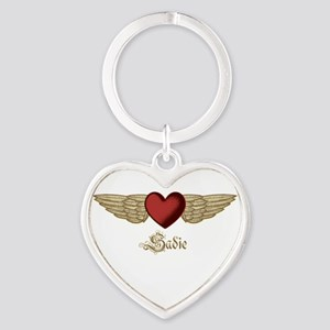 Sadie the Angel Heart Keychain