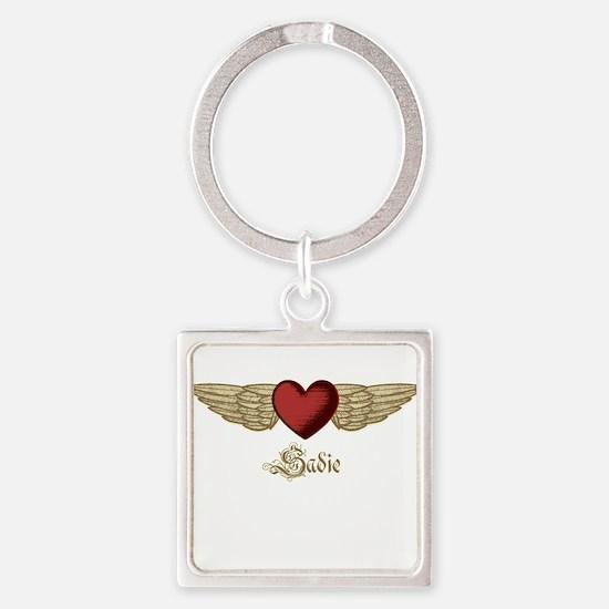 Sadie the Angel Square Keychain