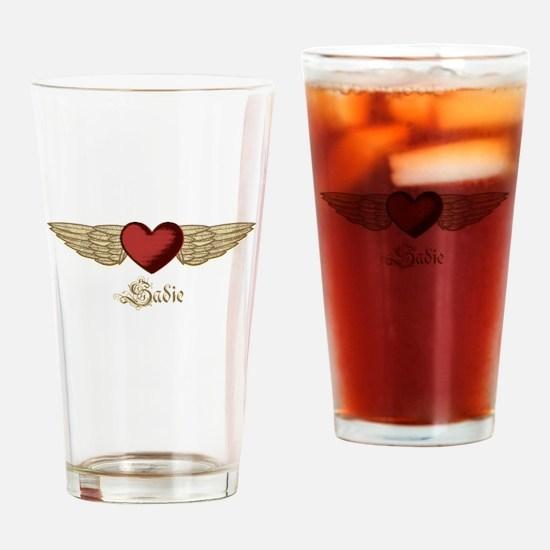 Sadie the Angel Drinking Glass