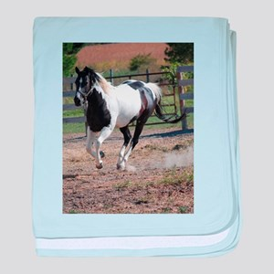 Horse/Pinto Paint baby blanket