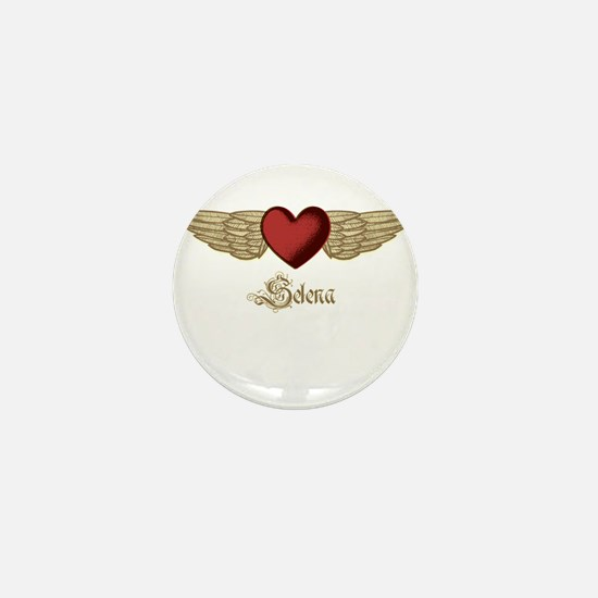 Selena the Angel Mini Button