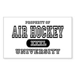 Air Hockey University Rectangle Sticker