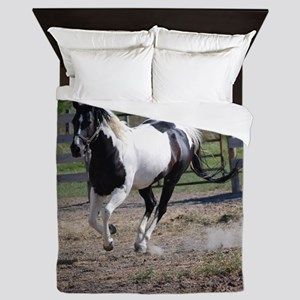 Horse/Pinto Paint Queen Duvet