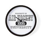 Air Hockey University Wall Clock