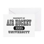 Air Hockey University Greeting Cards (Pk of 10