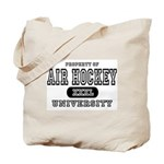 Air Hockey University Tote Bag