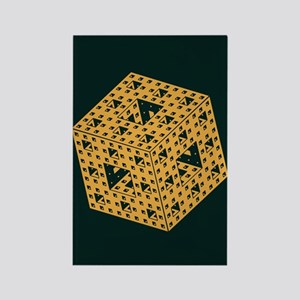 Menger Sponge Rectangle Magnet
