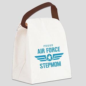 Proud Air Force Stepmom W Canvas Lunch Bag