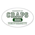 Craps University Oval Sticker