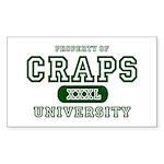 Craps University Rectangle Sticker