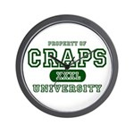 Craps University Wall Clock