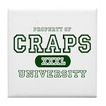 Craps University Tile Coaster