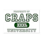 Craps University Mini Poster Print