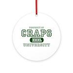 Craps University Ornament (Round)