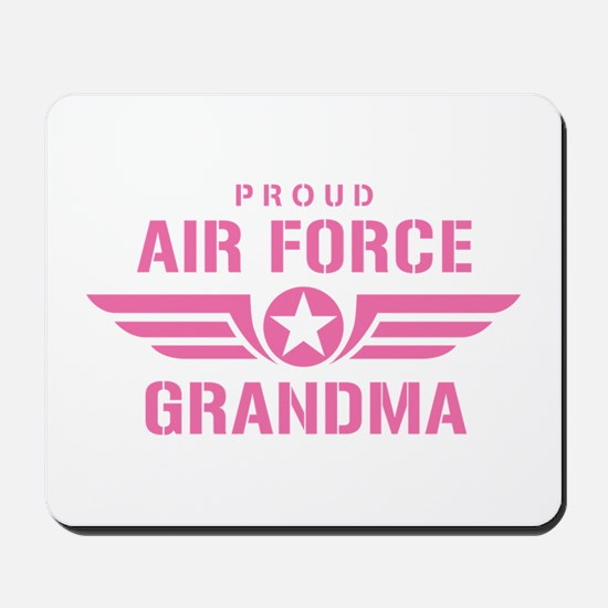 Proud Air Force Grandma W [pink] Mousepad