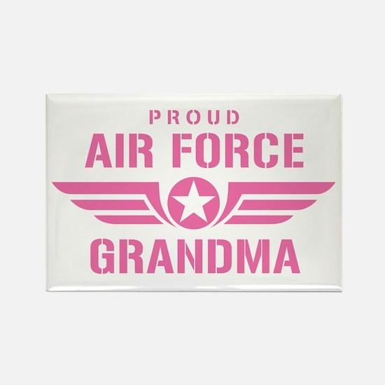 Proud Air Force Grandma W [pink] Rectangle Magnet