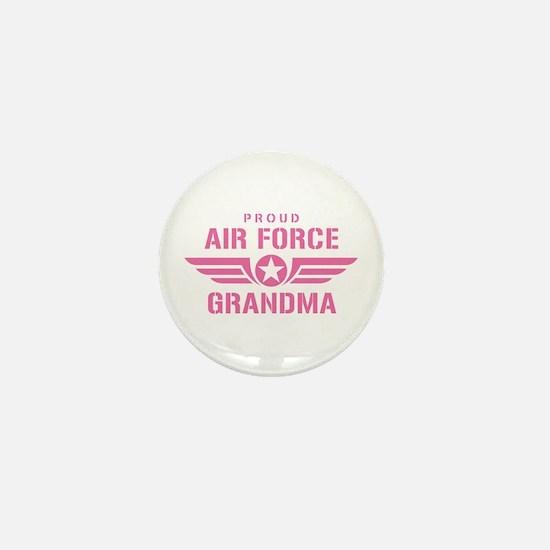 Proud Air Force Grandma W [pink] Mini Button