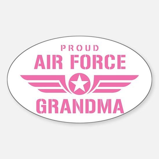 Proud Air Force Grandma W [pink] Sticker (Oval)