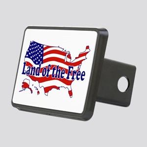 Land of the Free Rectangular Hitch Cover