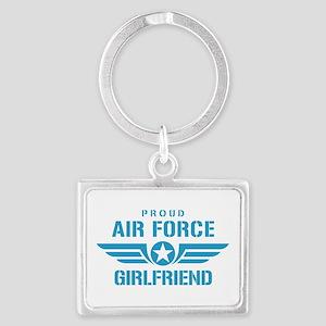 Proud Air Force Girlfriend W Landscape Keychain