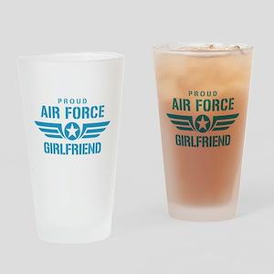 Proud Air Force Girlfriend W Drinking Glass