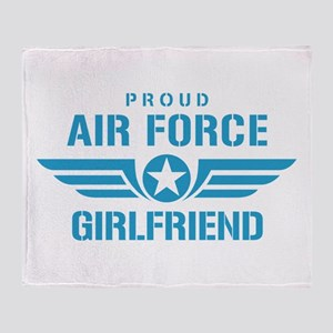 Proud Air Force Girlfriend W Throw Blanket
