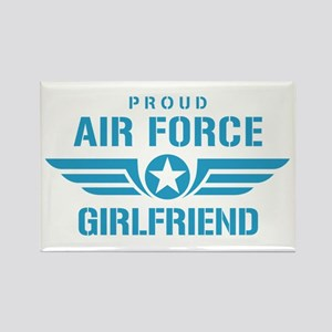 Proud Air Force Girlfriend W Rectangle Magnet